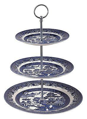 Blue #willow-3 tier cake #stand-churchill #china-made in  sc 1 st  Pinterest & Blue #willow-3 tier cake #stand-churchill #china-made in england ...
