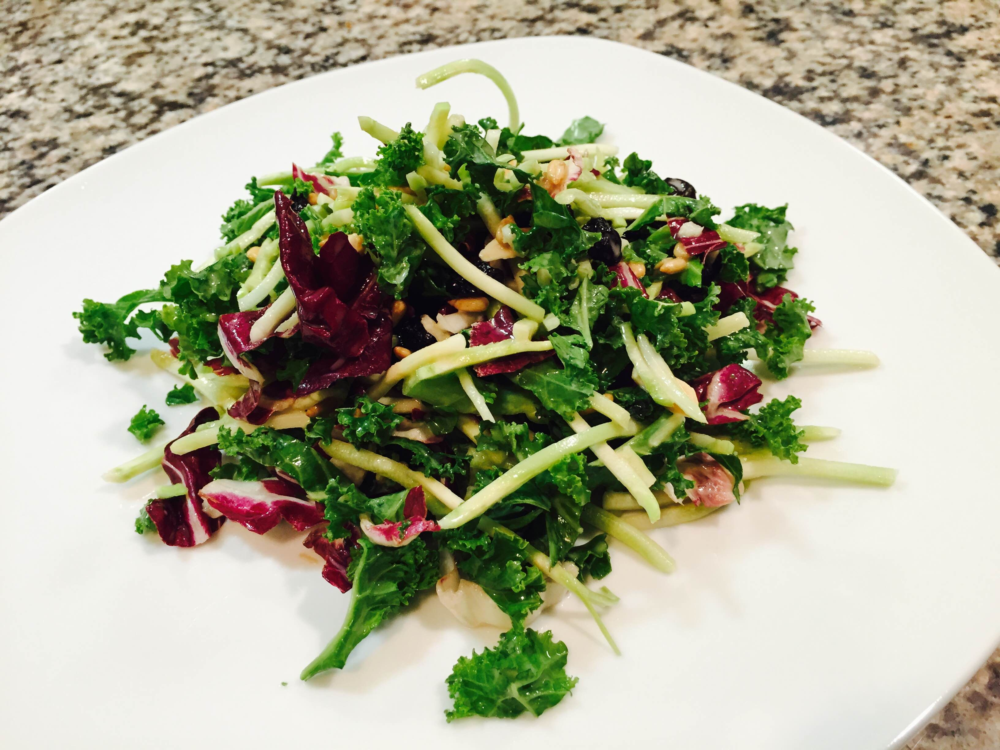 Cranberry Kale Slaw Salad