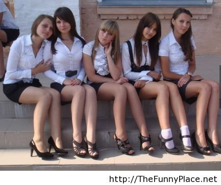 Russia Graduation High School Day With Sexy Girls
