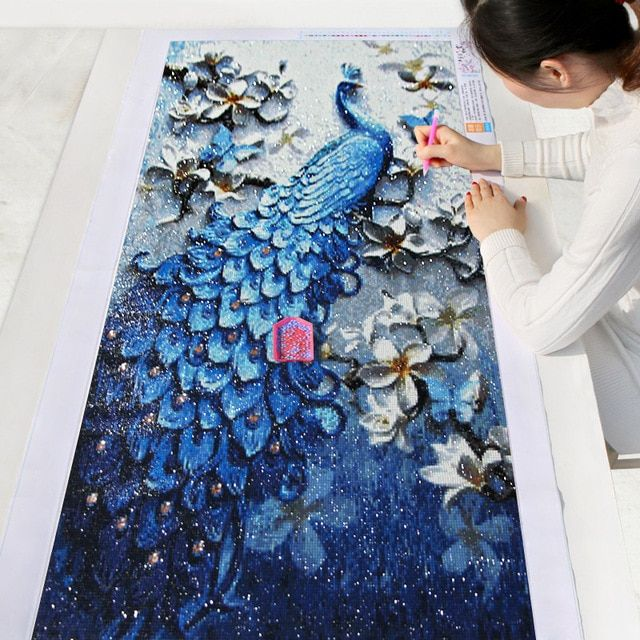 33cfdff90b Meian,DIY Diamond Painting,Special Daimond accessories,Diamond  Embroidery,Animal,Peacock,Full,Rhinestone,5D Diamond Mosaic,Decor Review