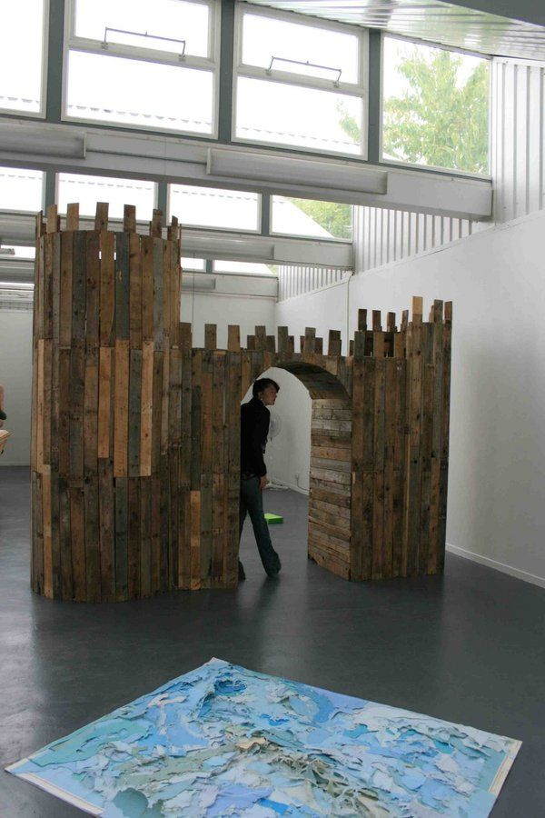 Pallet Castle Sculpture...all Goodness. In 2020