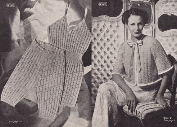 Patons Knitting Book No 259 Circa 1940s Printed In Australia This