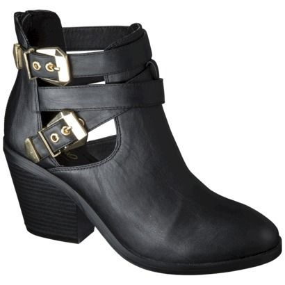 Mossimo Lina Buckle Ankle Boot #Refinery29 | would buy | Pinterest ...