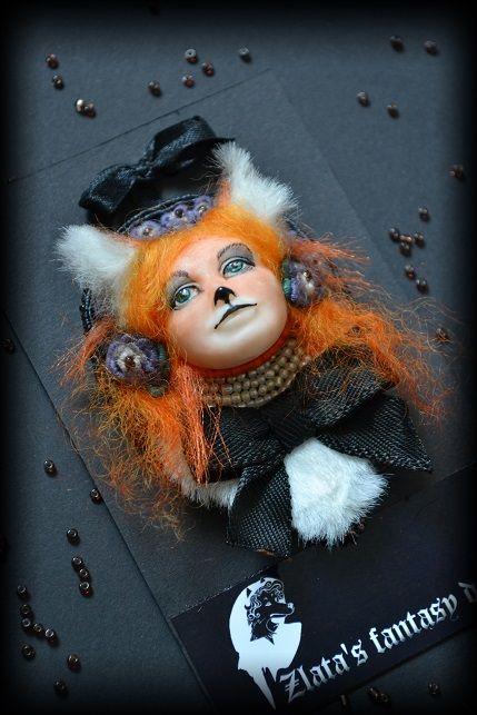 Zlata's fantasy dolls - Brooch girl - fox