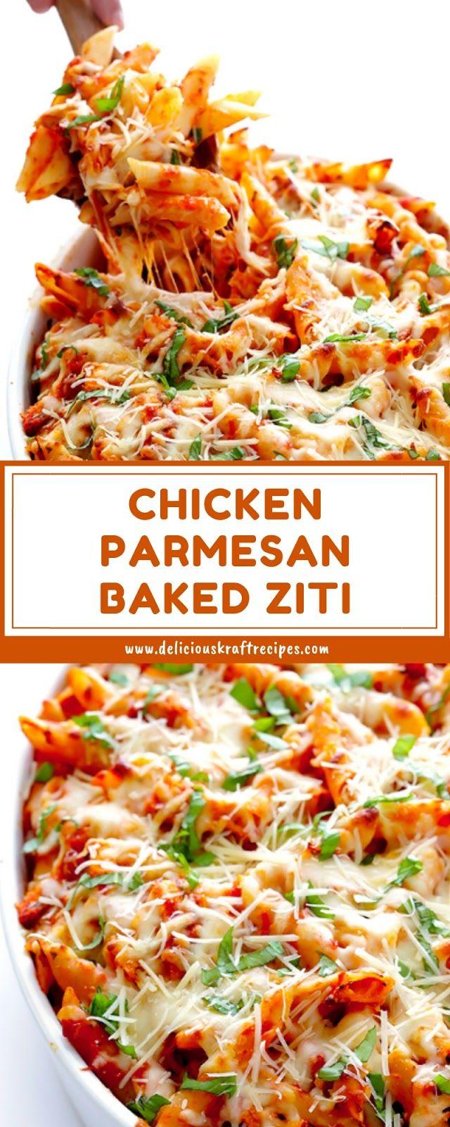 CHICKEN PARMESAN BAKED ZITI #chickenparmesan