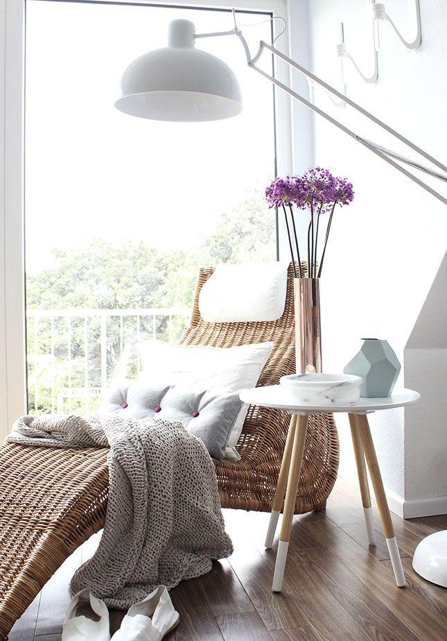 blhender allium und ein giveaway fr euch ein tolles knopf kissen - Tolles Dekoration Eames Chair Sitzkissen