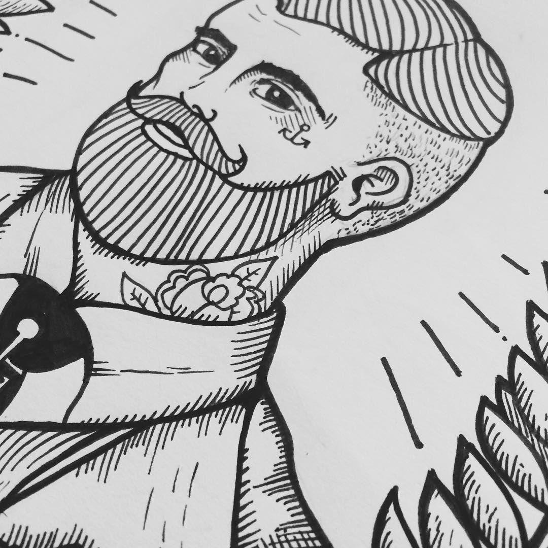 Ultimas pinceladas #ilustration #ilustracion #imageofday #handrawn #pencil #draw #drawing #oldschool #tattoo #vintage #hipster #vintagedraw #drawn #gentleman #artoftheday #artofday