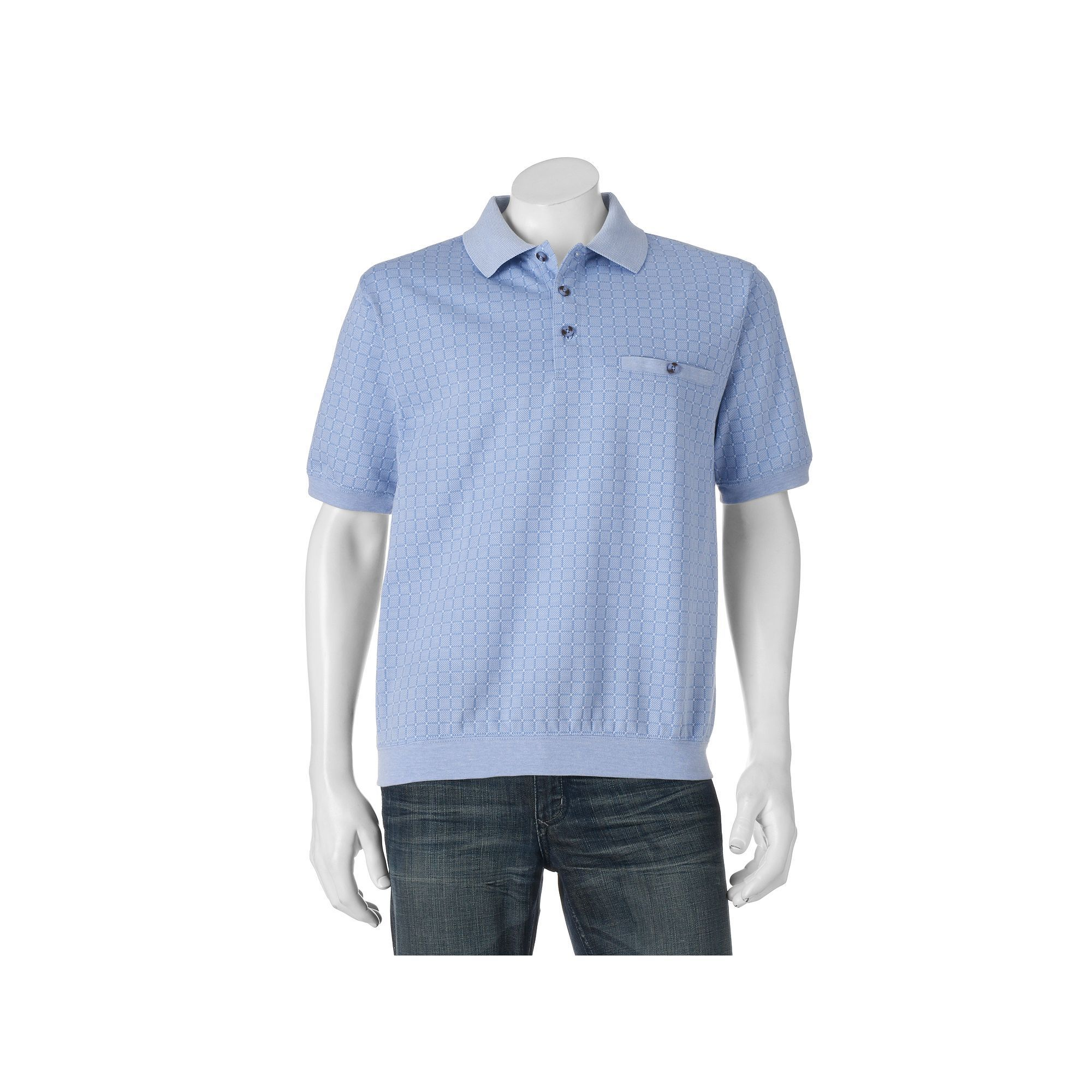 Mens Safe Harbor Classic Fit Banded Bottom Polo Safe Harbor
