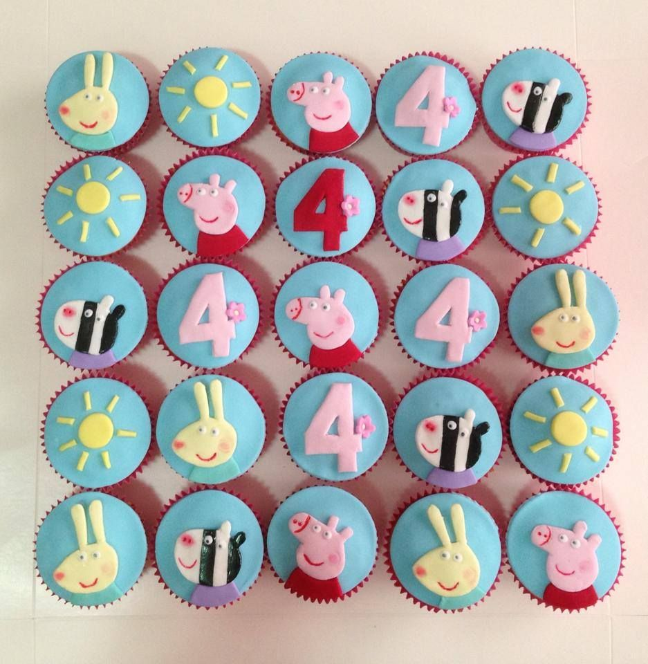 Peppa Pig Cupcakes by C for Cake Gladesville New South Wales
