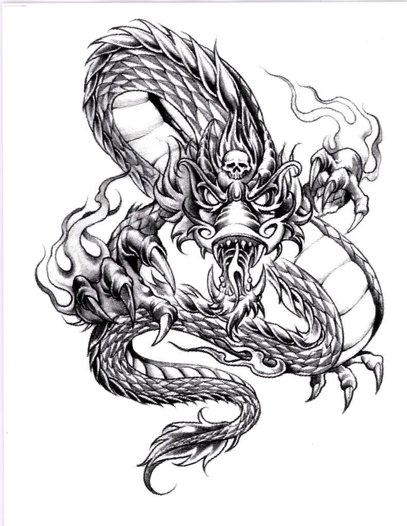 Welsh dragon tattoo designs - Awesome Cool Dragon Tattoo Designs Stylendesigns Com