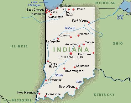 Indiana Places To Visit In U S Indiana State Indiana Map