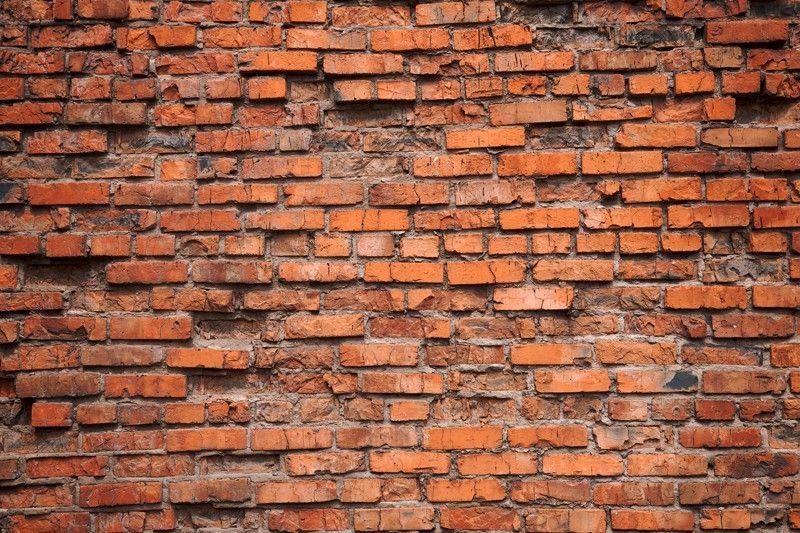 Old red brick wall wall mural exposed brick walls for Exposed brick wall mural