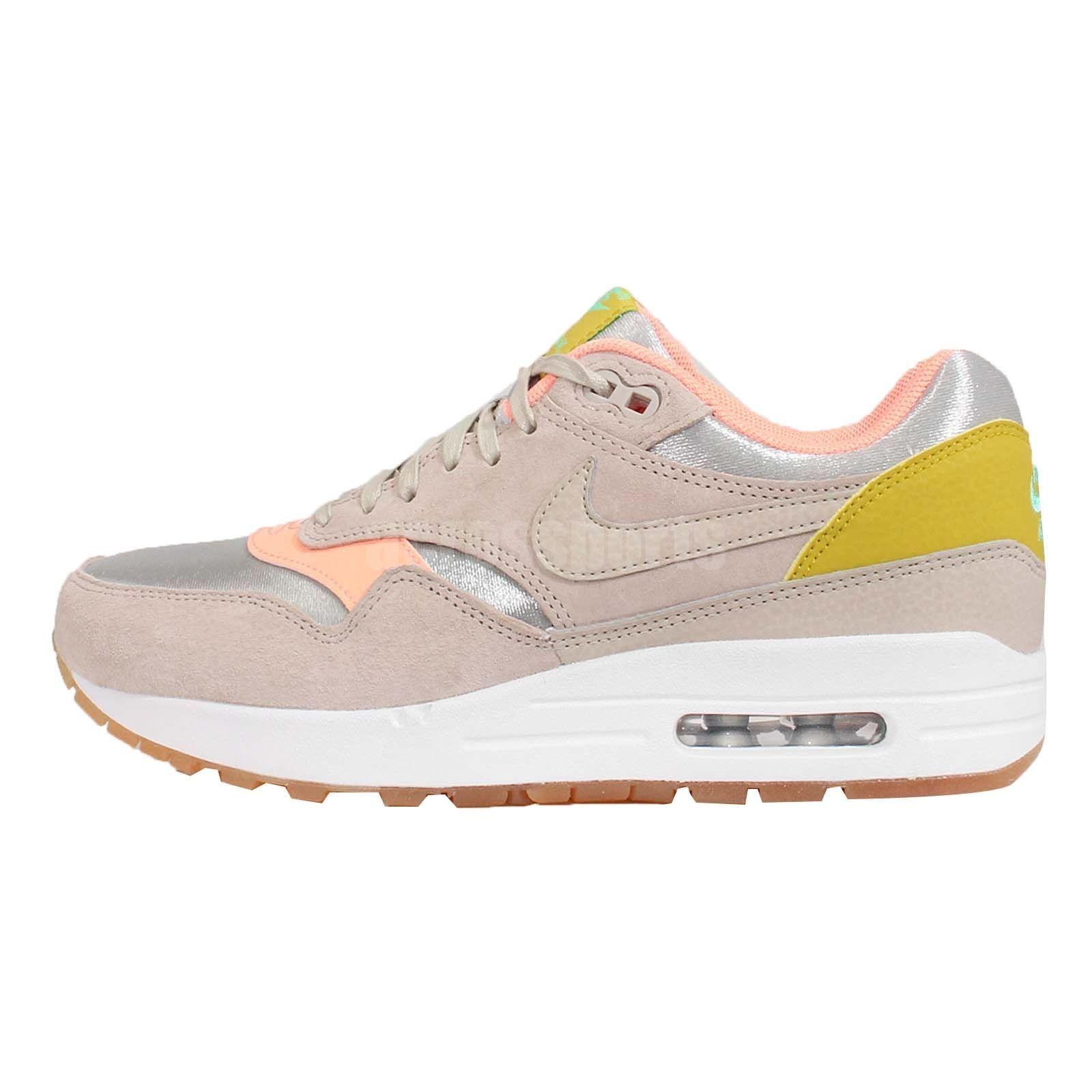 Wmns Nike Air Max 1 PRM Premium Sunset Glow NSW Womens Running Shoes ... c235ac666e856