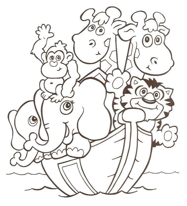 Arca De Noe Desenhos Para Colorir Pintar Imprimir Historinha