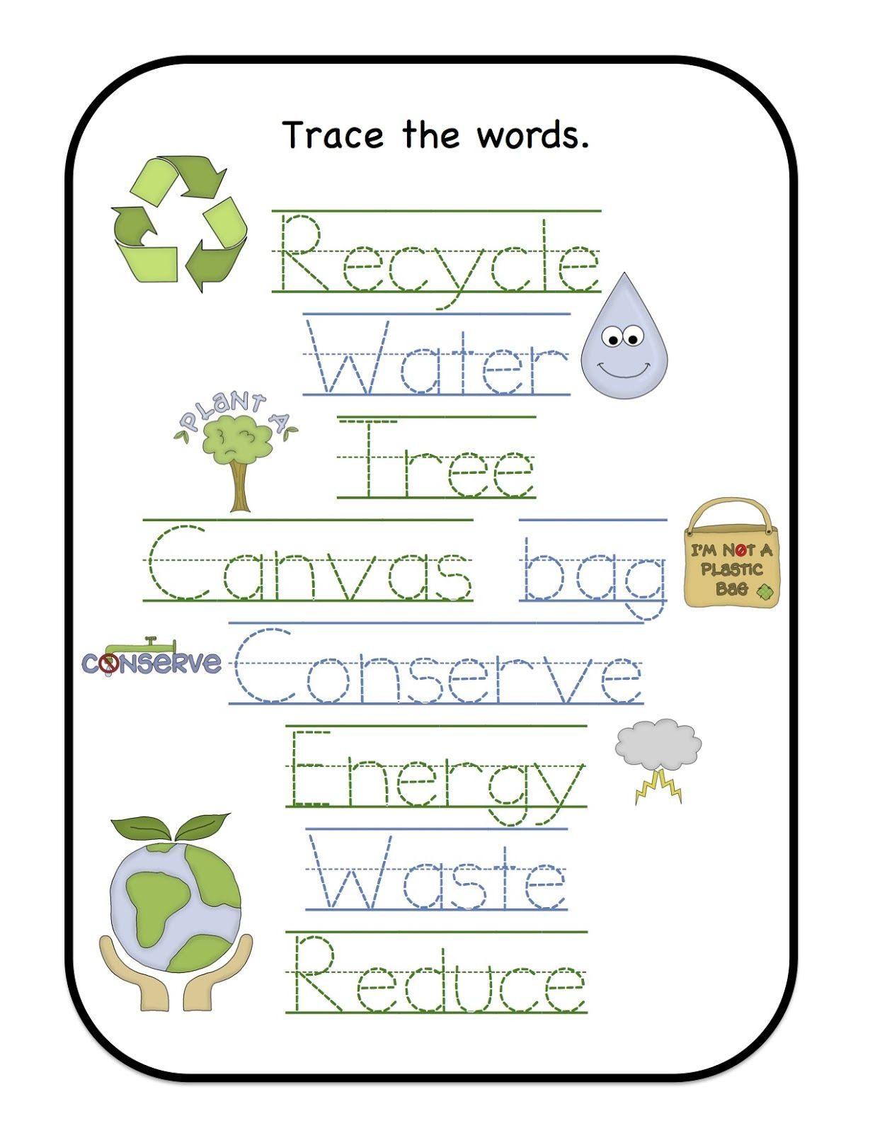 Preschool Printables Earth Day Dc Earth Day Pinterest