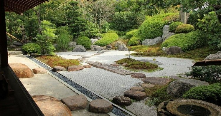 jardin zen moderne comment am nager un jardin harmonieux jardin pinterest gravier concass. Black Bedroom Furniture Sets. Home Design Ideas