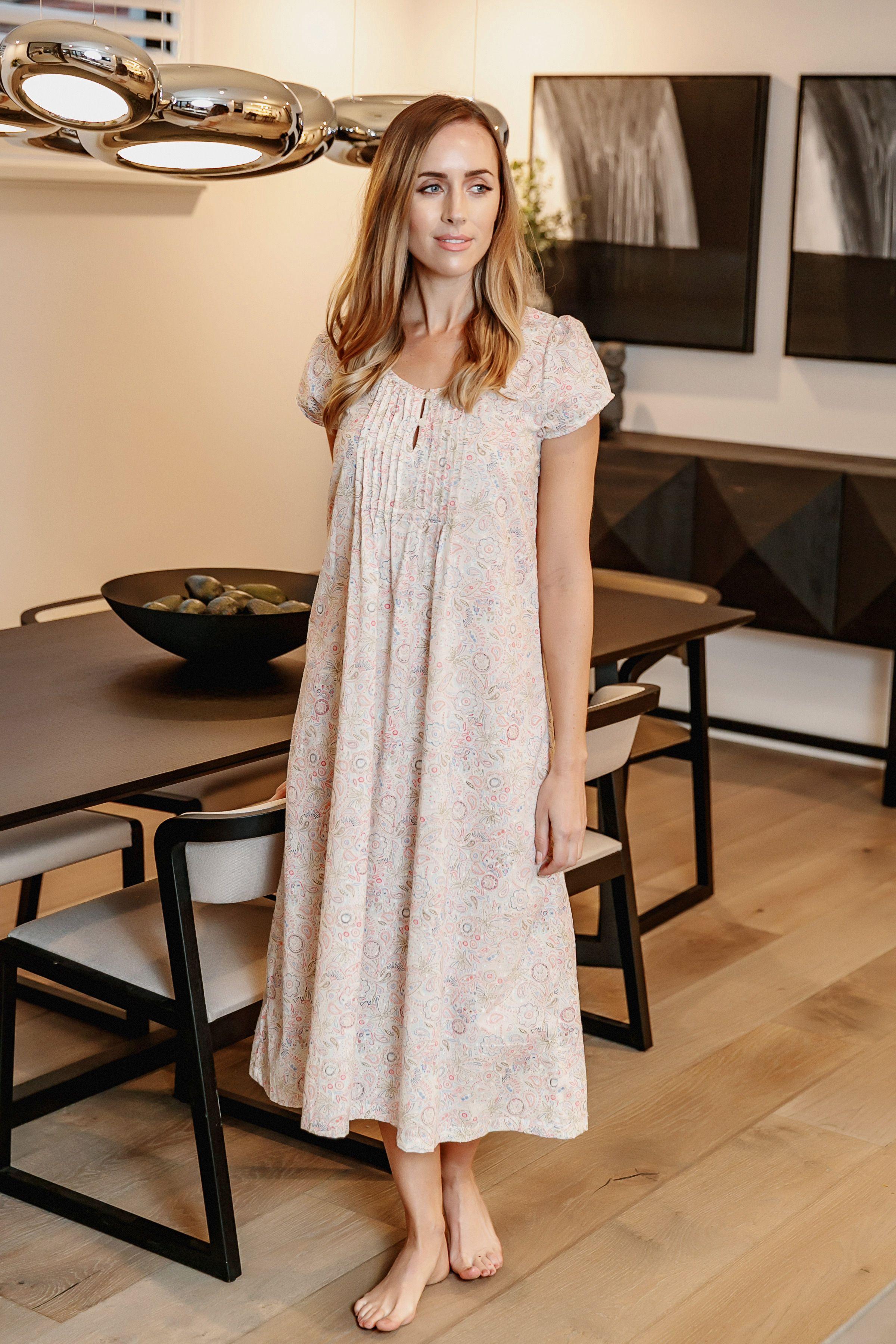 dbf267eb9e Ellie cotton cap sleeve nightie!   Pyjamas in 2019   Cap sleeves ...