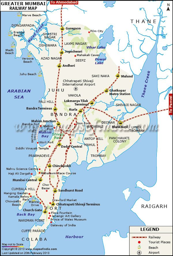Southern Railway Map Of India.Railway Map Of Greater Mumbai Railway Maps In 2019 Map Mumbai