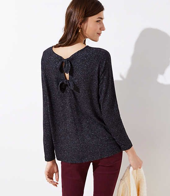 554f97cdc14 Shop LOFT for stylish women's clothing. You'll love our irresistible Bow  Keyhole Back Top - shop LOFT.com today!