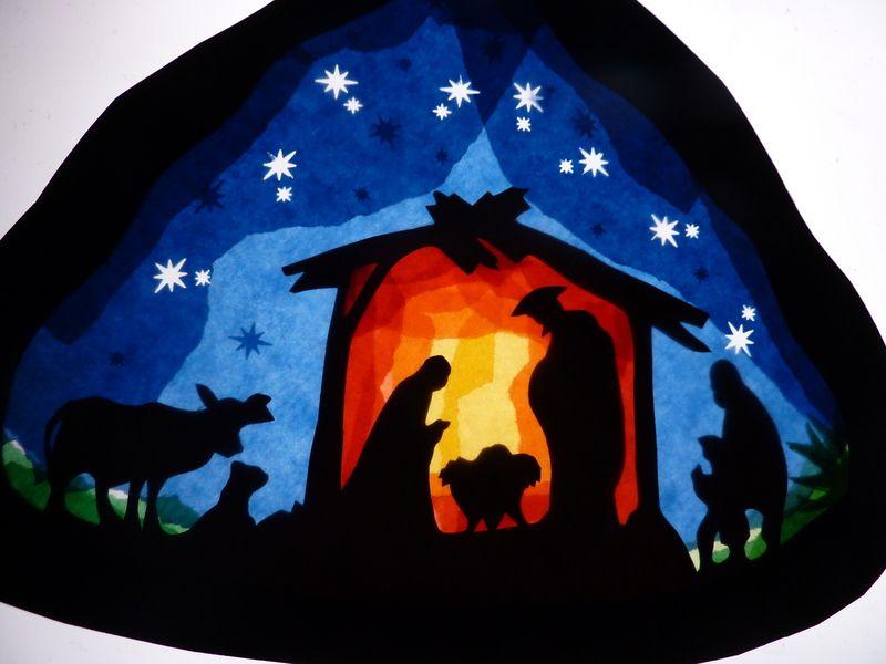nativity scene  fensterbilder weihnacht fenster