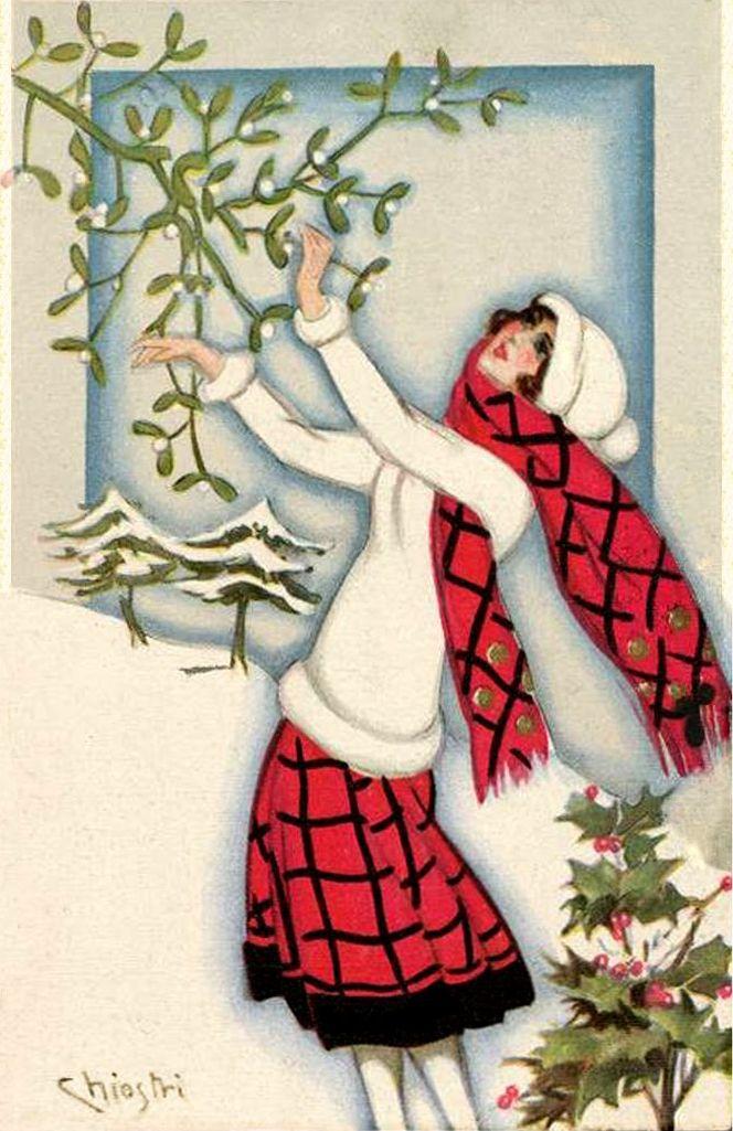 Sofia Chiostri (Italian 1898-1945) - Vintage Art Deco Christmas card ...
