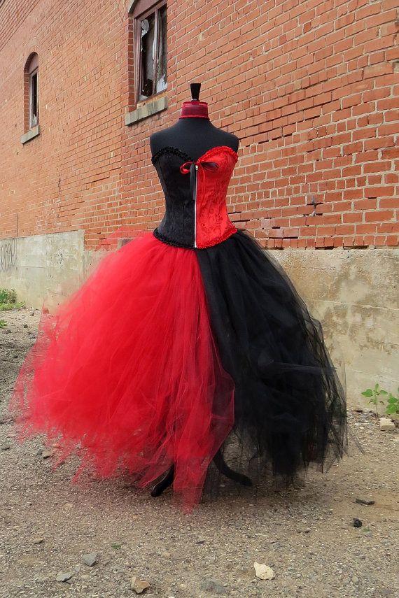 Adult Harley Quinn Costume Skirt This beautiful adult costume red - black skirt halloween costume ideas