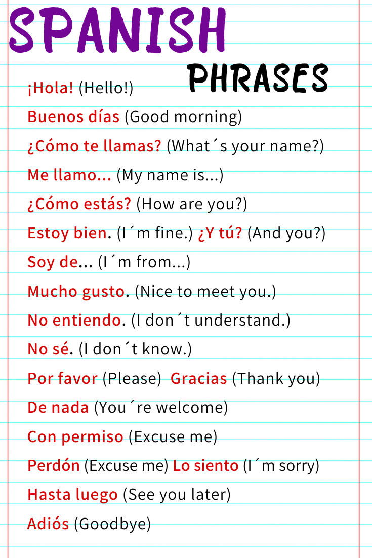 Beginner Spanish Cheatsheet for Travelers, Students, Teachers, Classroom decoration or Home