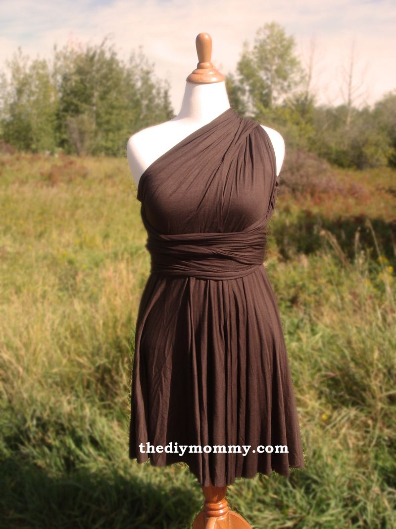 Sew an infinity dress with a builtin tube top by the diy mommy