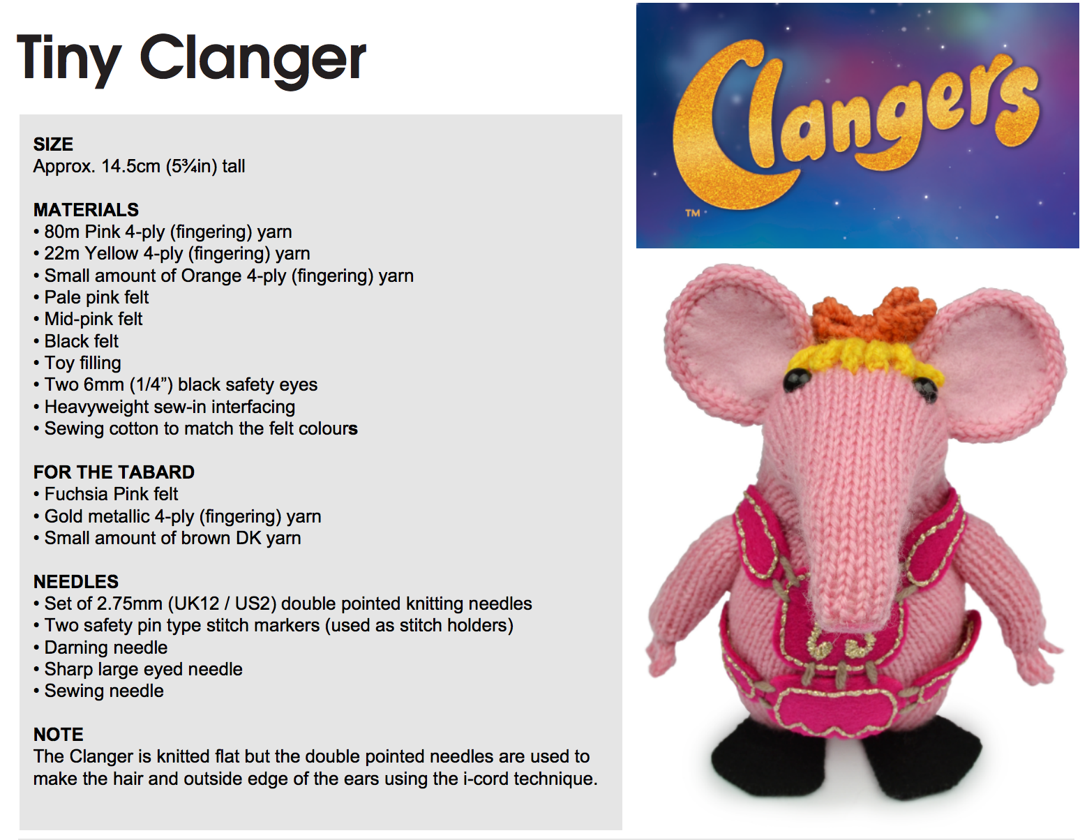 Knit your own Tiny Clanger! #clangers #knitting | Clangery Crafts ...