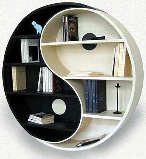 Yin and Yang bookcase -