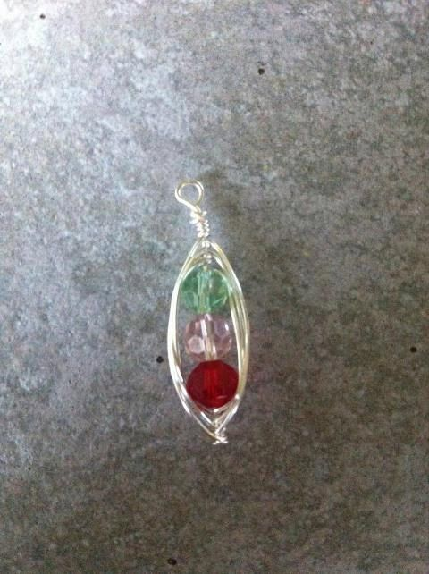 Peapod Pendantcustomized for mother's with by OriginalStiles, $20.00