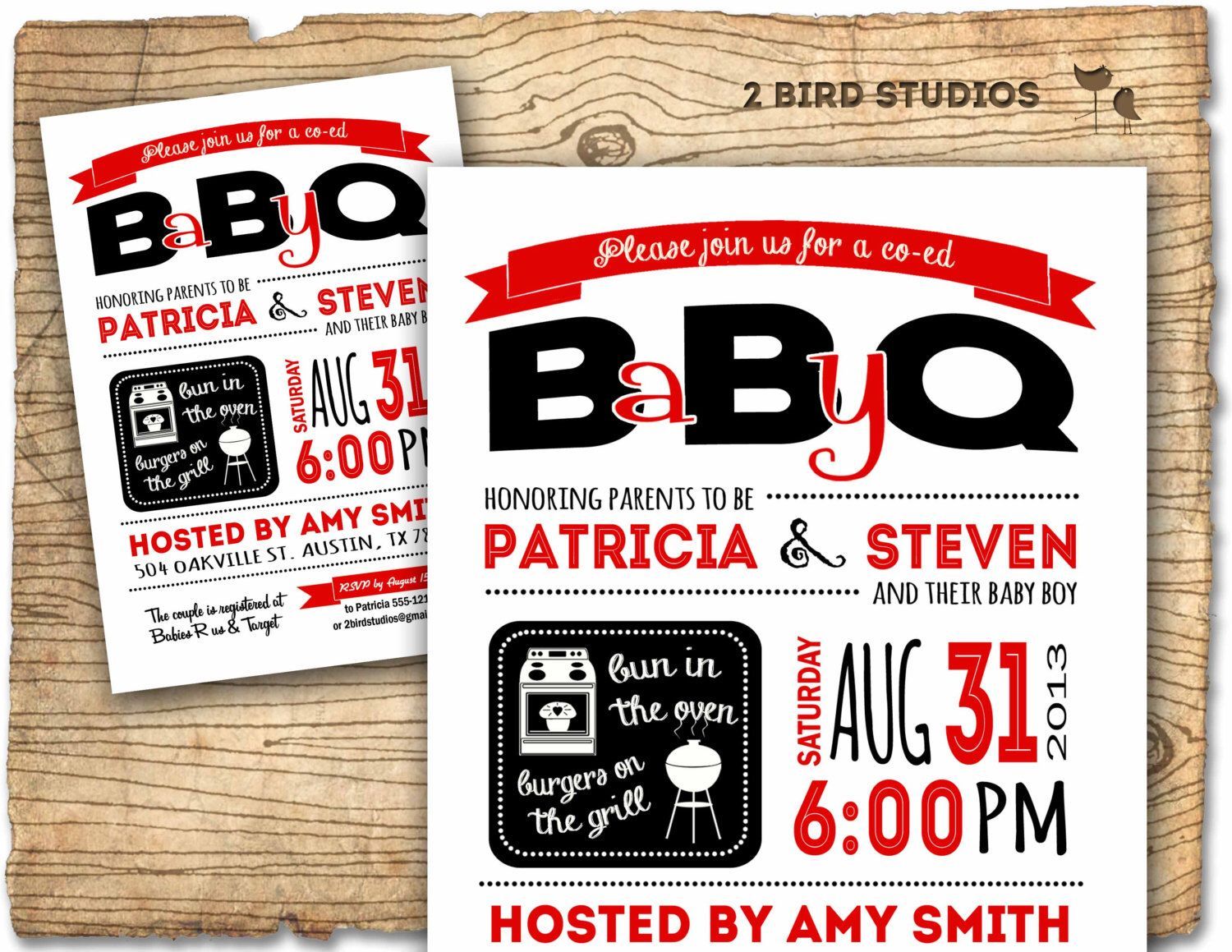 Baby Q invitation - BBQ baby shower - Coed baby shower - BBQ couples ...