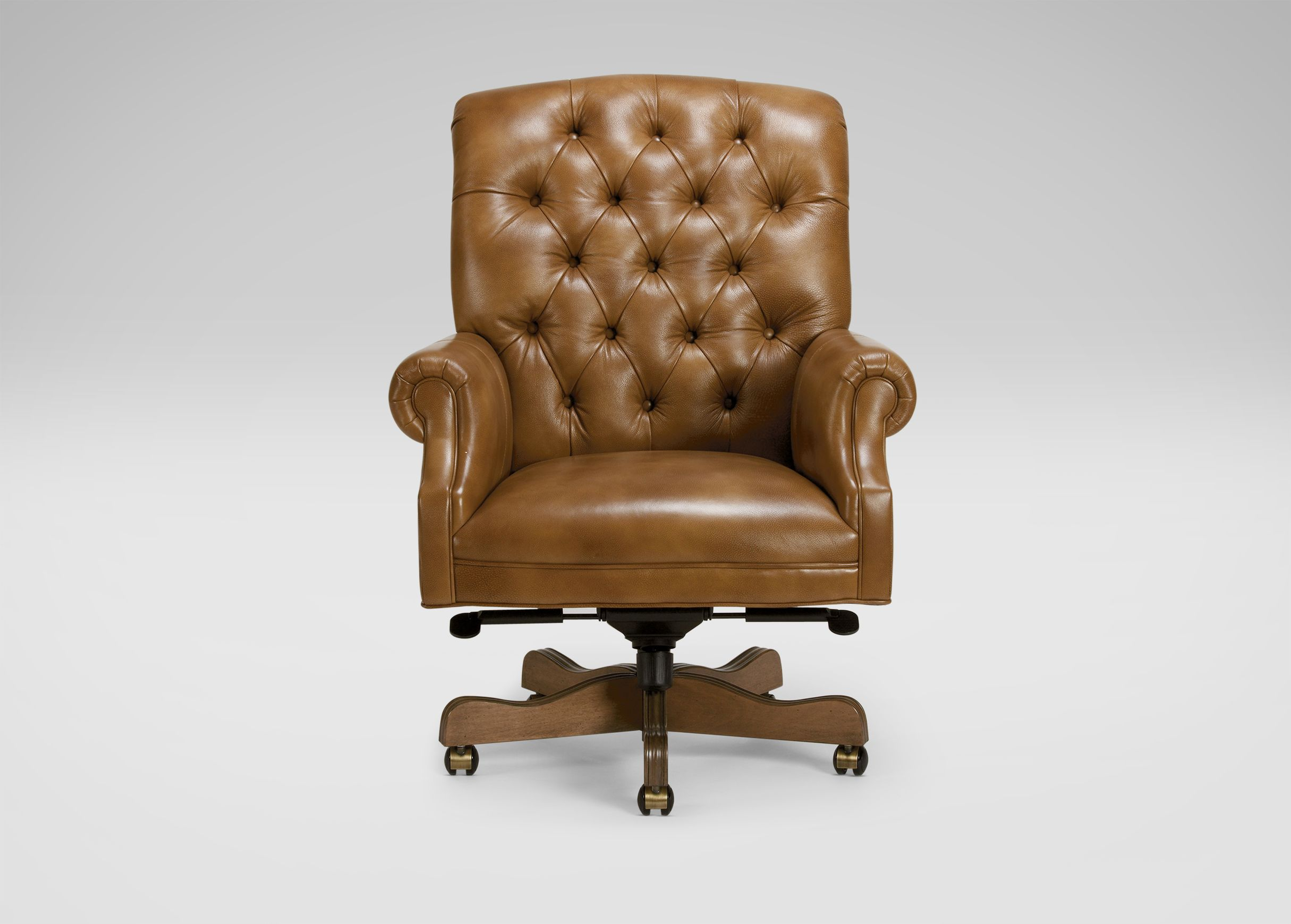 Tanner Leather Desk Chair Ethan Allen