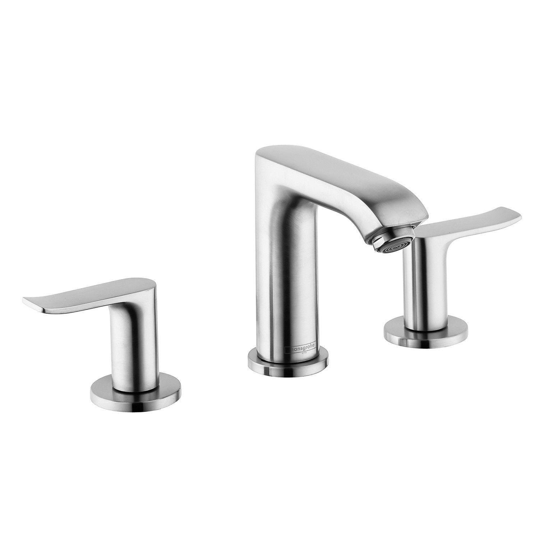 Hansgrohe 31083001 Chrome Metris Bathroom Faucet Widespread Faucet ...