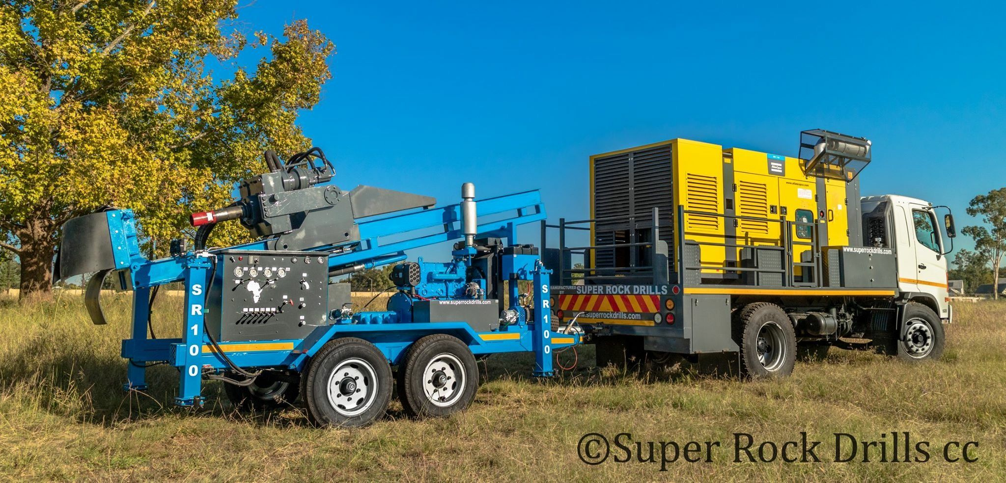 A Super Rock 100 Water Well Drill Rig Manufactured By Super Rock Drills South Africa Drilling Rig Water Well Drilling Well Drilling
