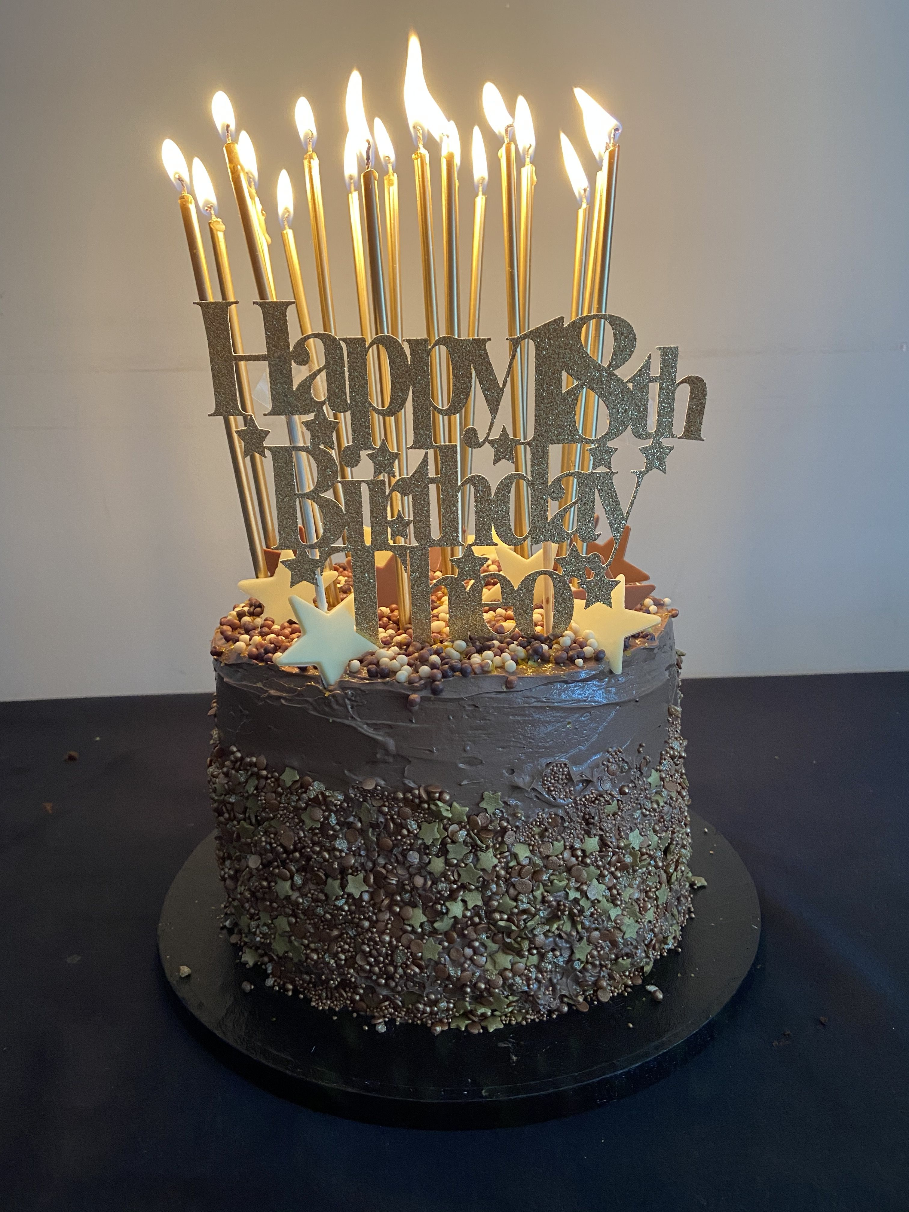 Pin By Stella Loukas On Theo S 18th Birthday Cake Candle For Cake Candle Cake 18 Candles