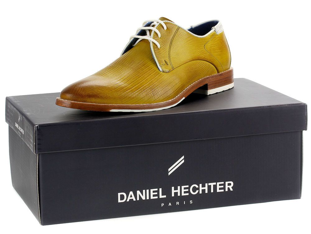 72f1de6064bab0 Daniel Hechter Herren Derbys Echtleder SchnÃrer Business Freizeit 22915 Gelb