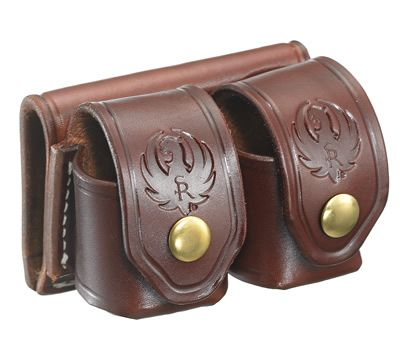 Triple K Brand Leather Cylinder Pouch For Six Shooter. Sporting Goods Ammunition Belts & Bandoliers