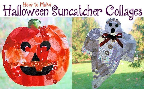 Fun and Easy Halloween Suncatcher Collages | About Family Crafts