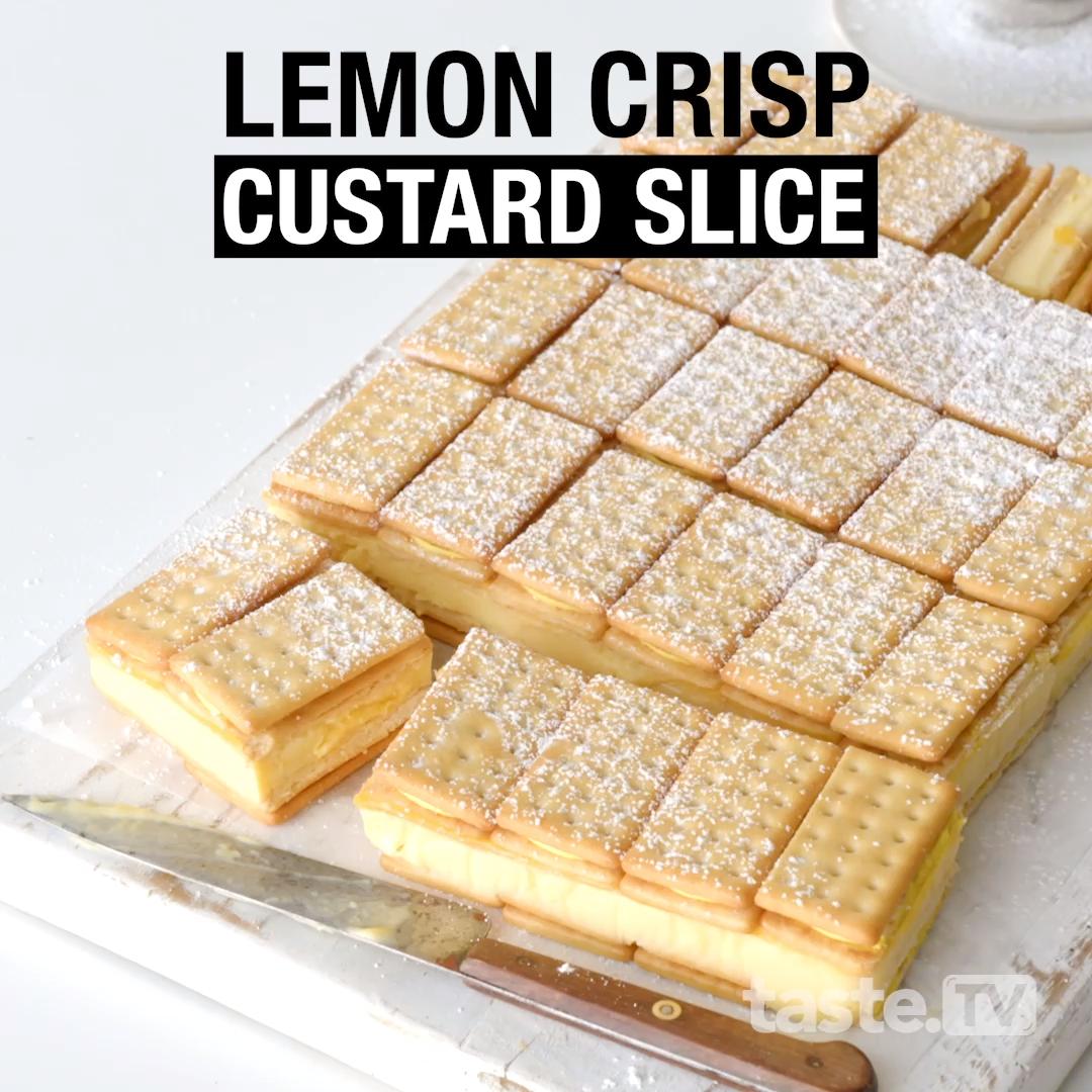 Lemon Crisp custard slice
