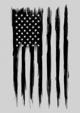 Black American Flag United States Poster Print | metal posters - Displate