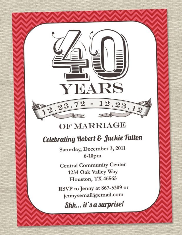 40th anniversary invitations uk wedding invitation pinterest