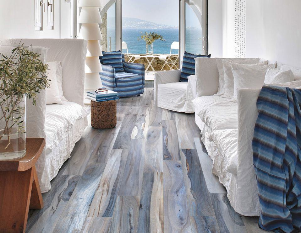 White Washed Floors In Pale Blue
