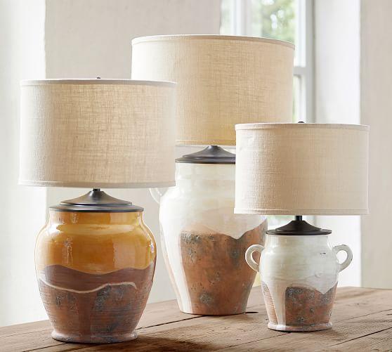 Saratoga Rustic Pottery Table Lamp Base Bedside Lamps Rustic Pottery Barn Lamp Shades Rustic Lamp Base
