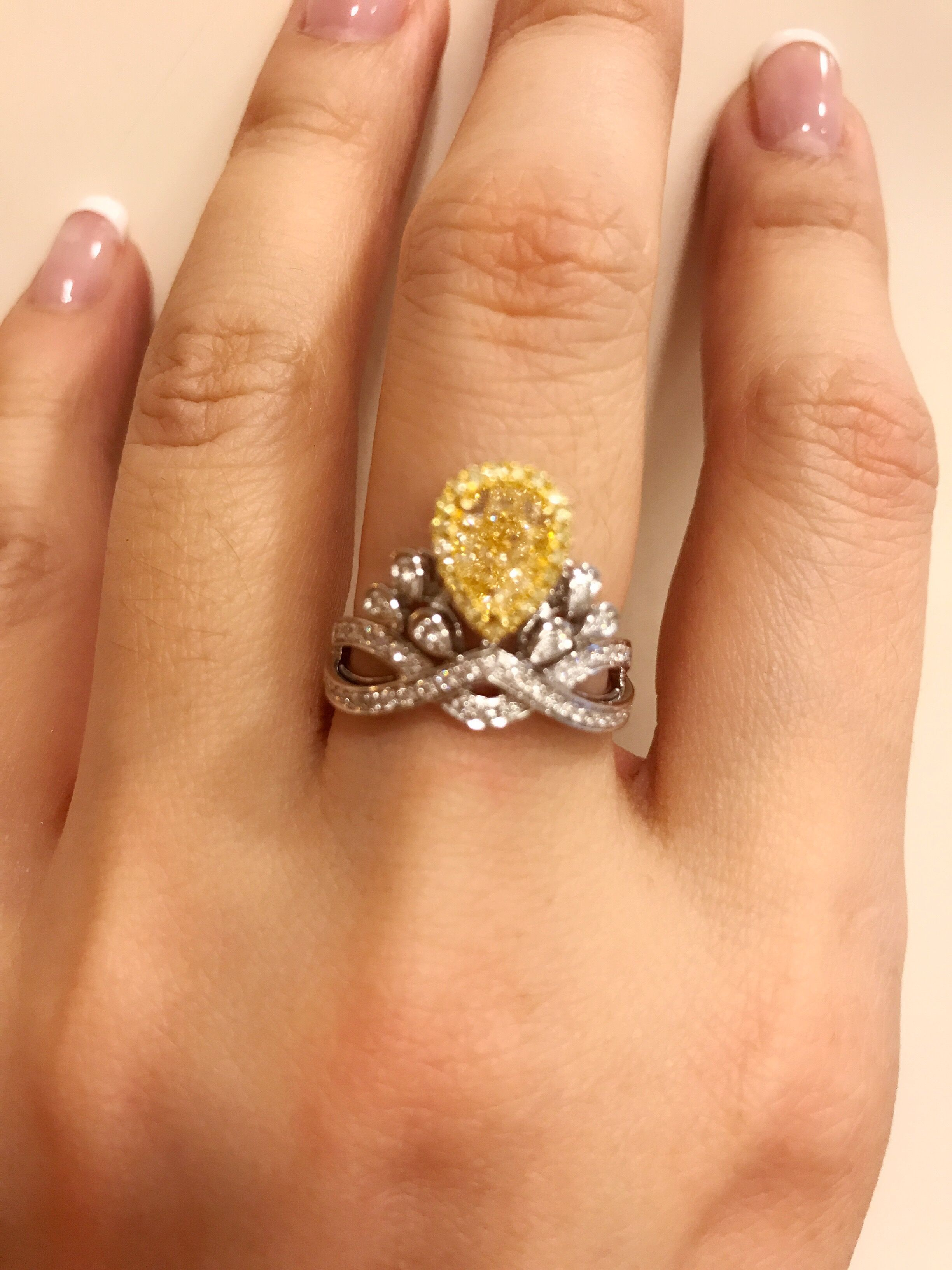 rings and gold in orange engagement white sapphire natural pin ring diamond