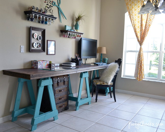 Craft room reveal by Poofy Cheeks via Funky Junk Interiors!  I love this idea,
