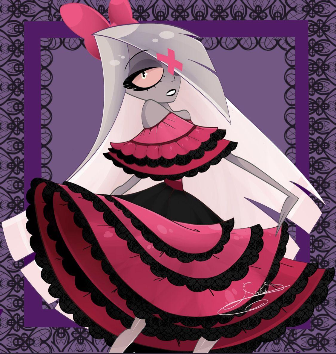 Vaggie looks fantastic!!💜😈🎀 Credit Serket Anime