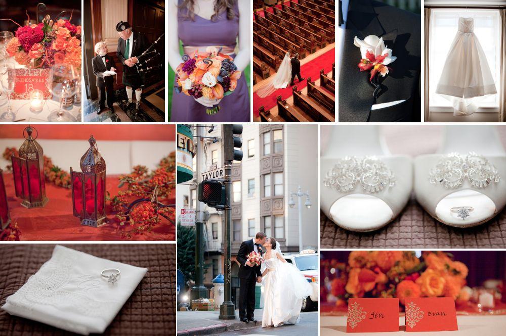 tangerine & eggplant. www.2chicevents.com | Wedding Photography | Pinterest | San francisco
