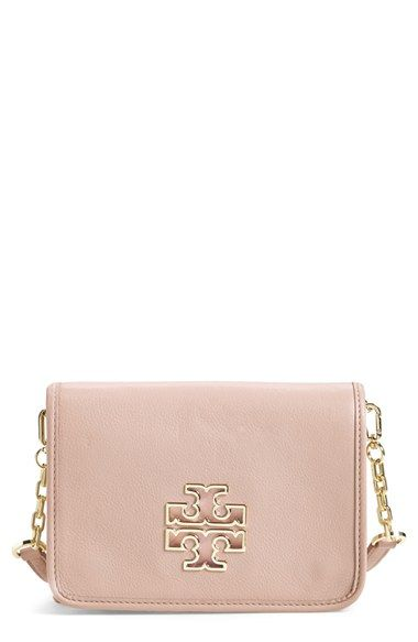 9f73ab68bcf Tory Burch  Britten  Leather Crossbody Bag available at  Nordstrom ...