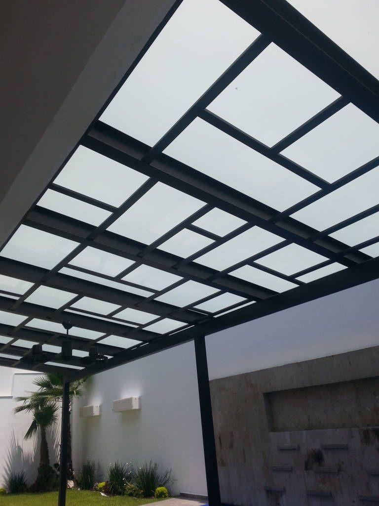 Ideas im genes y decoraci n de hogares vidrio laminado for Cubiertas transparentes para techos